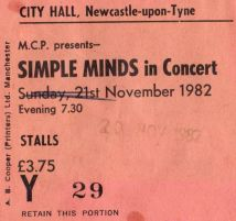 Simple Minds [20 Nov1982] Newcastle City Hall