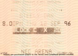 Stub - Steely Dan [25 May 1996] Birmingham NEC