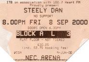 Stub - Steely Dan [8 Sep 2000] Birmingham NEC