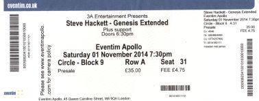 Steve Hackett - [1 Nov 2014] Eventim Apollo London