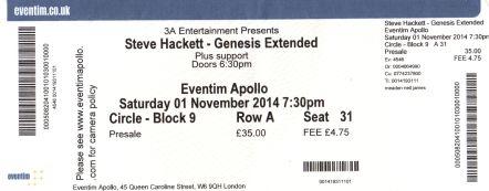 Steve Hackett - [1 Nov 2014] Eventim Apollo London