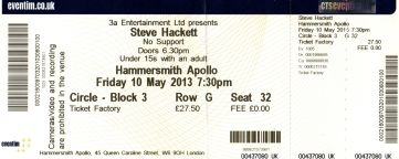 Steve Hackett - [10 May 2013] Hammersmith Apollo London