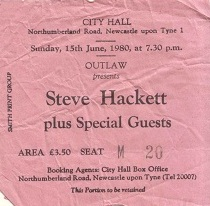 Steve Hackett - [15 Jun 1980] Newcastle City Hall