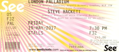 [Stub] - Steve Hackett - [19 May 2017] London Palladium