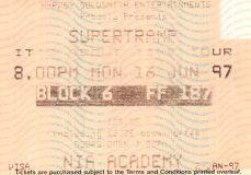 Stub - Supertramp [16 Jun 1997] Birmingham NIA