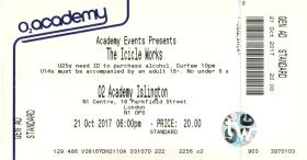 Stub - The Icicle Works [21 Oct 2017] - O2 Academy Islington