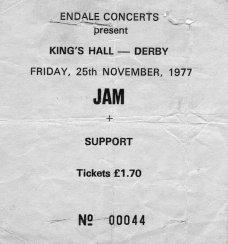 Stub - The Jam [25 Nov 1977] Derby King's Hall