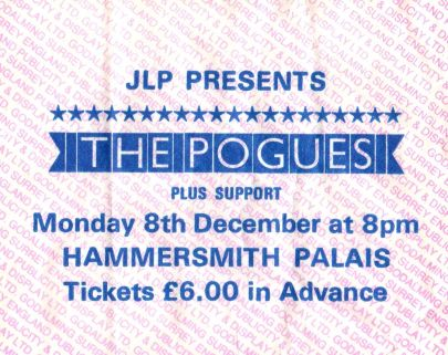 The Pogues [8 Dec 1986] London Hammersmith Palais