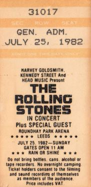 The Rolling Stones [25 July 1982] Leeds Roundhay Park