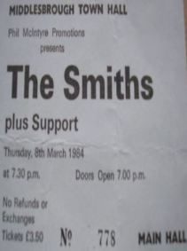 The Smiths [8 Mar 1984] Middlesbrough Town Hall
