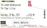 The Tiger Lillies [23 May 2015] - London Wonderground