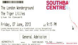 The Tiger Lillies [7 Jun 2013] - London Wonderground