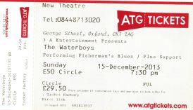 Stub - The Waterboys [15 Dec 2013] Oxford New Theatre