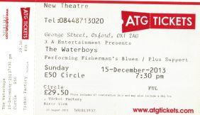 The Waterboys [15 Dec 2013] Oxford New Theatre