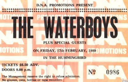 Stub - The Waterboys [17 Feb 1989] Birmingham Hummingbird