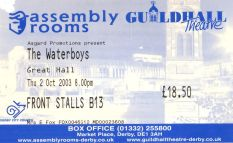 The Waterboys [2 Oct 2003] Derby Assembly Rooms