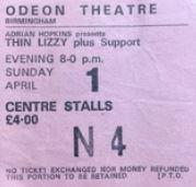 Thin Lizzy [1 Apr 1979] Birmingham Odeon