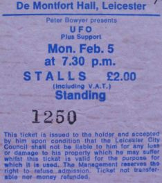 UFO [5 Feb 1979] Leicester DeMontfort Hall