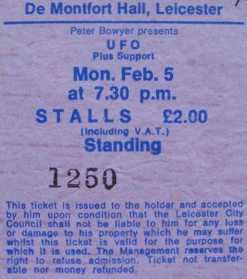 UFO [5 Feb 1979] Leicester DeMontfort Hall