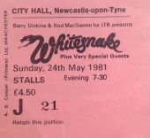 Whitesnake - [24 May 1981] Newcastle City Hall