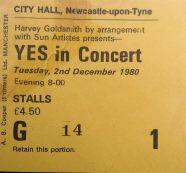 Yes [2 Dec 1980] Newcastle City Hall