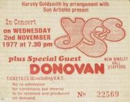 Stub - Yes [2 Nov 1977] Stafford Bingley Hall