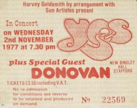 Yes [2 Nov 1977] Stafford Bingley Hall