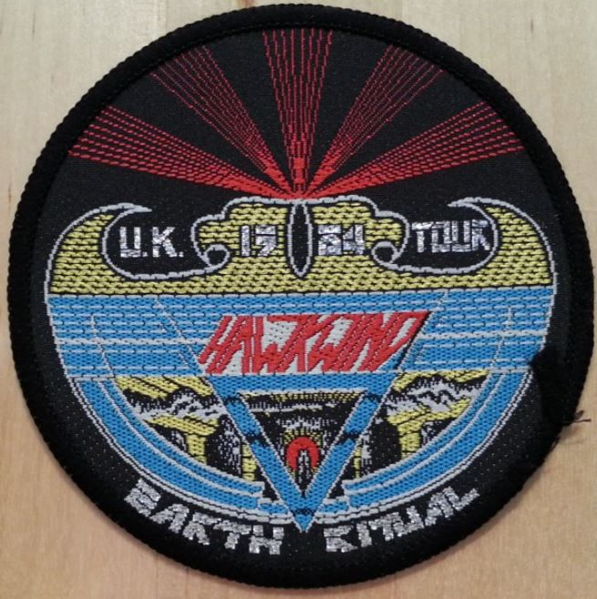 Hawkwind Earth Ritual 1984 tour patch