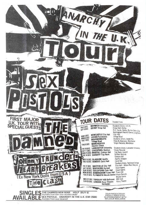 Poster - Anarchy in the UK tour 1976