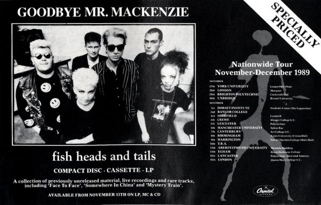 Goodby Mr Mackenzie - 1989 UK tour