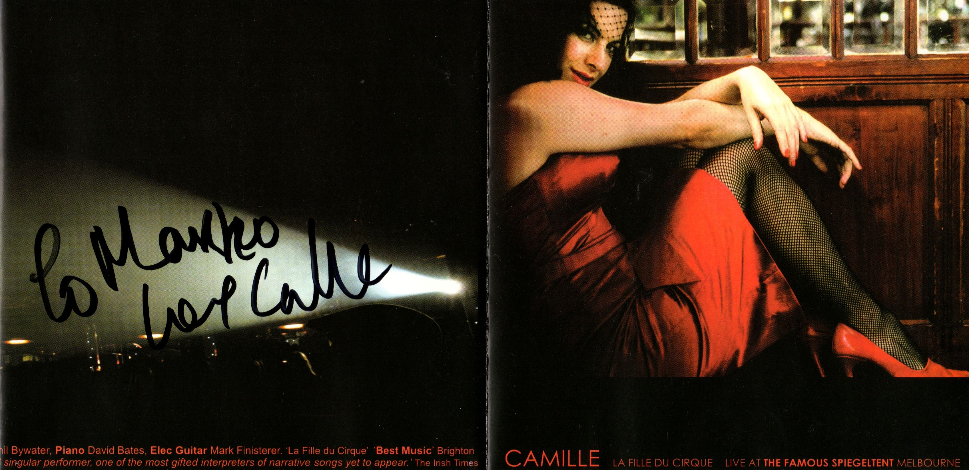 (Signed) Camille O'Sullivan - La Fille Du Cirque [20 May 2006 Brighton]