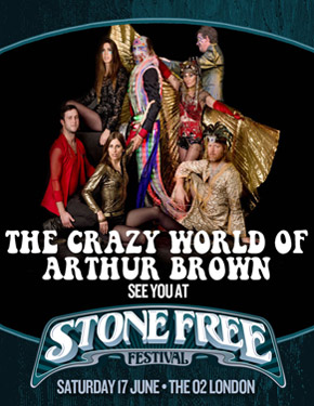 Arthur Brown Stone Free 2017