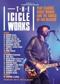 The Icicle Works - UK tour dates 2017 flyer