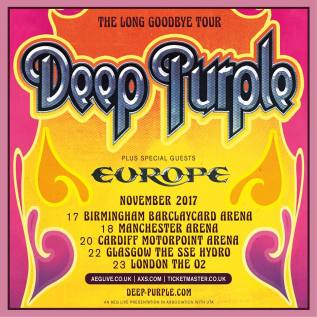 Deep Purple - Long Goodbye Tour 2017