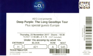 Deep Purple - [23 Nov 2017] London O2