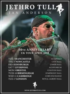 Jethro Tull 50 Anniversary UK Tour 2018