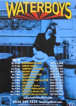 The Waterboys - Out of all this Blue UK tour 2018