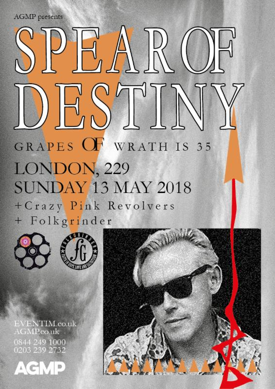 Spear of Destiny - Tontine @ 229 the venue , London [13 May 2018]