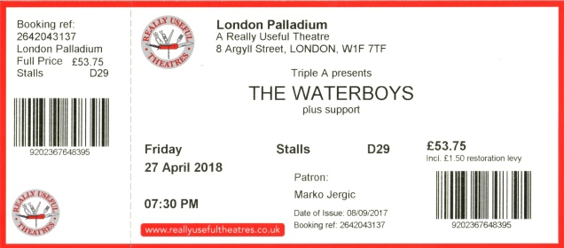 The Waterboys [27 Apr 2018] London Palladium