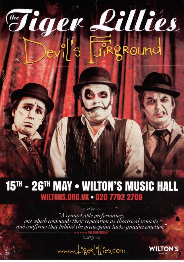The Tiger Lillies - Devils Fairground flyer front