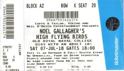 Noel Gallagher's High Flying Birds [7 July 2018], Greenwich London