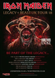 Iron Maiden - Legacy of Beast 2018 UK dates