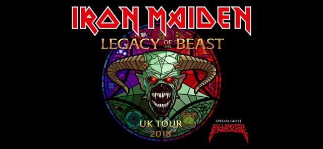 Iron Maiden - Legacy of Beast 2018 UK tour