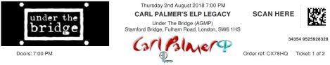 Carl Palmer ELP Legacy [2 Aug 2018] Under the Bridge