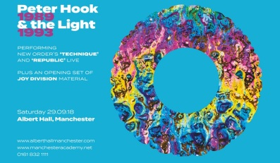Peter Hook & the Light - Technique-Substance Poster 2018 tour