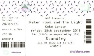 Peter Hook and the Light [28 Sep 2018] Camden Electric Ballroom