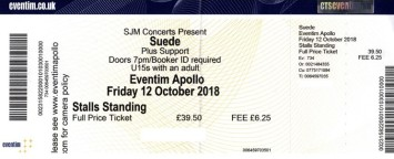Suede - [12 Oct 2018] Hammersmith Eventim Apollo