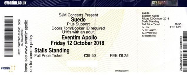 Suede - [12 Oct 2018] Hammersmith Eventim Apollo