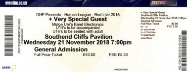 The Human League & Midge Ure [21 Nov 2018] Southend Cliffs Pavillion