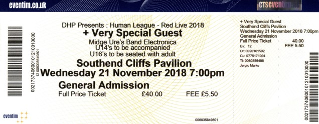 The Human League and Midge Ure [21 Nov 2018] Southend Cliffs Pavillion